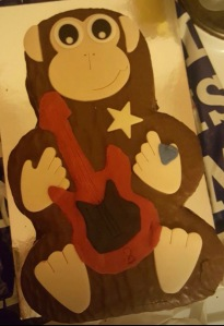 Rockstar monkey cake