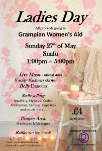 Ladies day fundraising event poster