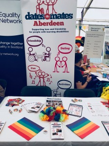 Dates-n-mates stall at Grampian pride 2018