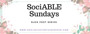 Sociable Sunday's blog post series banner