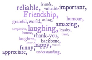 International Day of Friendship word cloud