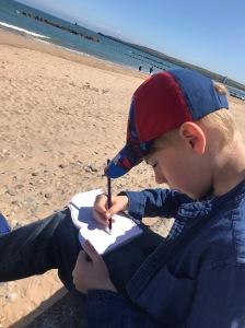 Drawing at Aberdeen beach