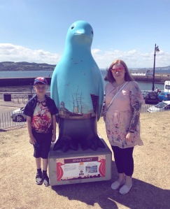 Broughty Ferry Maggies penguin statue
