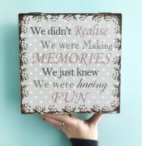 Having fun creating memories box