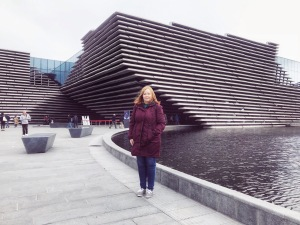 Me outside the fantastic V&A Dundee Museum