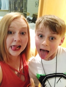Flawsome blogger award - silly faces photo with my son