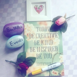 Sociable events - be creative, be kind, be you notebook