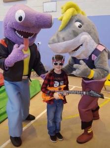 Rockstar themed children's birthday party
