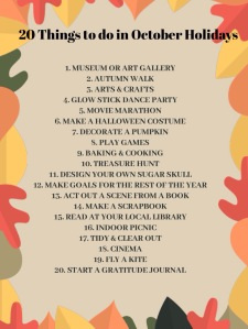 20 free or cheap things to do in October holidays