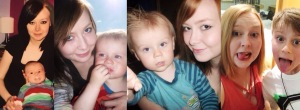 Louise and Nathan through the years