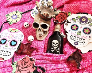 Skulls themed image - Decorate your own sugar skull activity for October school holidays