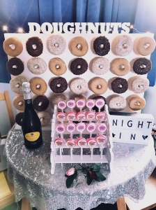 Doughnut wall and lollies from Final Touch Events