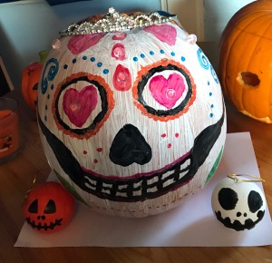 Princess sugar skull Halloween pumpkin
