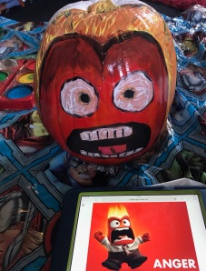 Anger painted Halloween Pumpkin design