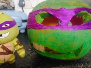 Ninja Turtle Halloween pumpkin design