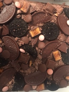 Fairy Bakes loaded chocolate brownie close up