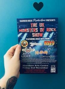 The U.K. Monsters of Rock show flyer