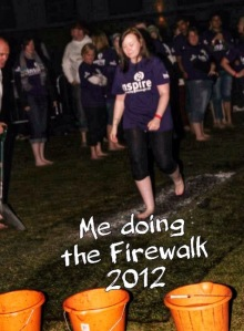 Charity Firewalk fundraising for Inspire