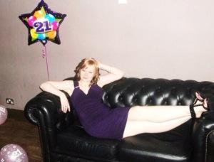 My 21st birthday with balloon posing