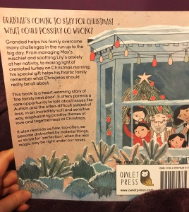 The Christmas next door book from owlet Press back cover