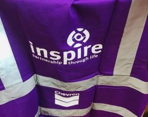 Inspire north east charity high vis vest