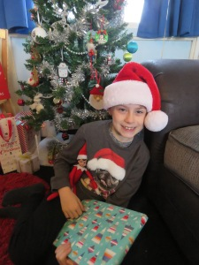 Happy child at Christmas!
