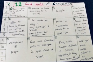 12 good deeds of Christmas for kids