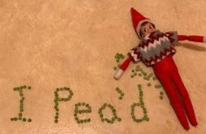 Elf on the shelf idea - I pea'd