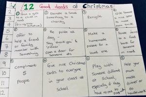 Elf on the shelf idea - 12 good deeds