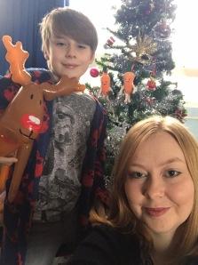 Christmas selfie Nathan and I