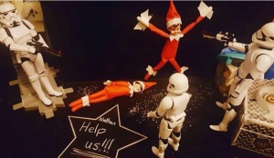 Elf on the shelf idea - kidnapped by other toys