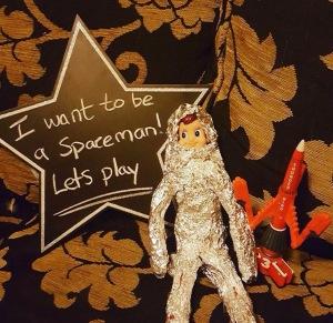 Elf on the shelf idea - spaceman