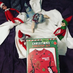 Elf on the shelf idea - make your own Xmas jumper